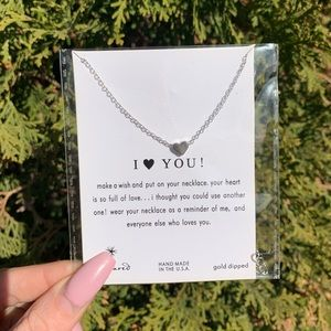 "Silver Tone ""I Love You!""  Heart Necklace"